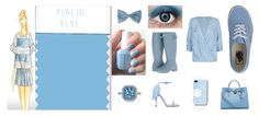 Placid Blue - Azul tranquilo, color de moda 2014. Nos hara sentirnos relajados ya que el cuerpo segrega quimicos relajantes, tambien serenos descansados y con la calma suficiente para afrontar la rutina. Muy recomendable para entrevistas de trabajo con una camisa o falda y para maquillajes ahumados en ojos verdes.