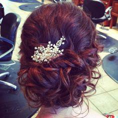 Wedding hair (but with freesia)