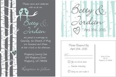 Love Bird wedding invitations personalized by Love Birds, Wedding Invitations, Marriage, Masquerade Wedding Invitations, Casamento, Love Sick, Wedding Invitation Cards, Wedding, Mariage