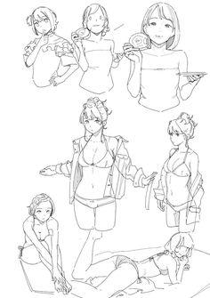 Line Art Manga Drawing Reference Ideas Human Figure Drawing, Figure Drawing Reference, Art Poses, Drawing Poses, Drawing Tips, Anatomy Drawing, Manga Drawing, Drawing Art, Manga Art