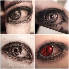 eyes by Niki Norberg of Wicked tattoo in Gothenburg Sweden.