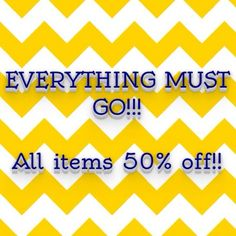 Everything is half off listed price! Salon Quotes, Plunder Jewelry, Everything Must Go, Off Sale, For Sale Sign, Signs, Accessories, Shop Signs, Sign