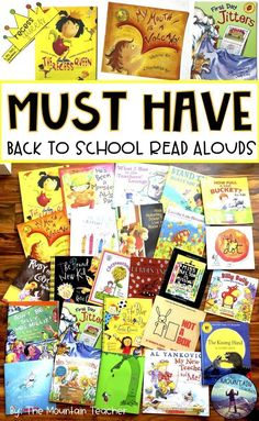 Back to school read alouds for elementary students 4th Grade Reading, Kindergarten Reading, Guided Reading, 1st Day Of School, Beginning Of The School Year, High School, Back To School Activities, School Ideas, School Tips