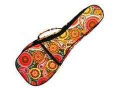 New Super Cool Eddy Finn Paisley Ukulele Gig Bags. Heavy Duty featuring Back pack straps. Available for Soprano, Concert and Tenor. #ukulele #bag