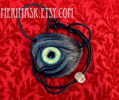 Black Wolf Eye Patch... handmade carved leather eye patch with glass eye  halloween mardi gras burning man pirate werewolf costume