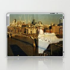 The Thames Laptop & iPad Skin by Anja Hebrank - $25.00  #london #tate #modern #millennium #bridge #themse #thames #uk #britain #landscape  #colours #colour #vintage #streetphotography #canon #present #decoration #interior #travelling #travelphotography #design #individual #society6 #print #art #artprint #interior #decoration #design #photography #ipad #case #skin #cover
