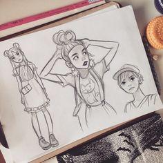 #fruitsmagazin #sketching