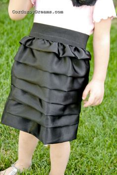 DIY ruffle skirt. How to sew a skirt for a girl.