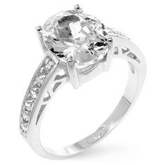 Oval Center Piece Engagement Ring – Ultra Lovely