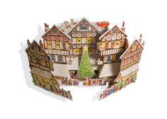 Market Scene 3D Popup Advent Calendar by Babalu