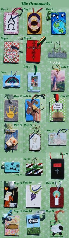 A Meaningful Christmas Ornaments -Ideas for Day 1-24 via www.thetshirtmama.com
