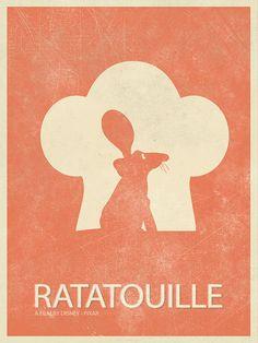 RATATOUILLE Cartoon Poster Retro Poster by BaydleCreative on Etsy