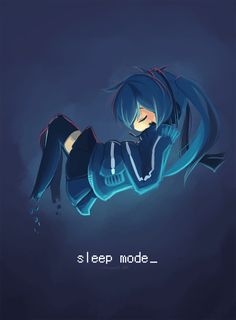 Ene | Kagerou Project It cute, the way she sleeps. :)