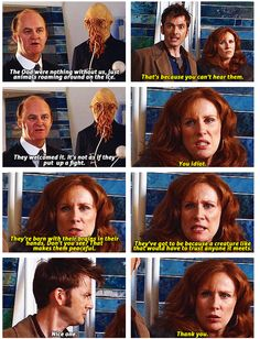 "Donna WIN! Oh I love her so much. I really hope that this is the season when the Doctor suddenly says "" Oi! I just figured out how to let Donna Noble remember everything without killing her!"" :)"