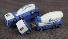 Custom USB Cement Mixer - from USB2U. Very Cute. #Custom #USB