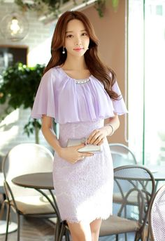 Purple Cap Sleeve Ruffle, Sexy Designer Banded Dress - ShopGalaxie