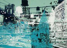 Cityscape in Aqua by JENEVIEVE REID