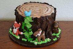 Woodland Animal Baby Shower Cake on Cake Central Animal Birthday Cakes, Animal Cakes, Cake Birthday, Birthday Ideas, Baby Shower Cupcakes, Shower Cakes, Decors Pate A Sucre, Woodland Cake, Woodland Party