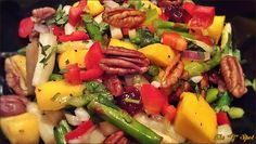 CHAMPAGNE MANGO & ASPARAGUS SALAD --- This is a very simple salad that I came up with…experimenting with flavors again…BON APPÉTIT!