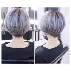 Hair color Cute Bob Haircuts, Bob Hairstyles, Silver Grey Hair, Blue Hair, Short Hair Cuts For Women, Short Hair Styles, Asian Hair, Hair Goals, Hair Inspiration