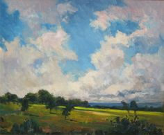 Mark Tougias:  Passing Clouds, oil on canvas, on exhibit at Bryan Memorial Gallery in the Legacy Collection through 2014.
