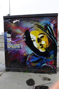 Paris 13 - quai de la gare - street art - c215