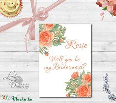 Esküvői meghívó, Esküvői tanú lap, koszorúslány kérő, Esküvő Képeslap, virágos lap, menyasszony, Esküvő, Naptár, képeslap, album, Meghívó, ültetőkártya, köszönőajándék, Képeslap, levélpapír, Meska Bridesmaid Cards, Bridesmaids, Wedding Cards, Decor, Wedding Ecards, Decoration, Bridesmaid, Wedding Maps, Decorating