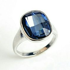 Blues on High [Last Available!] Silver Plated Large Square Irregularly Cut Sapphire - Trendy Vintage Statement Ring has cool feel yet stylish look to it, extraordinary one of a kind ladies must buy right here now. One size 6 available, almost sold out.   ...Ask About Custom Bundles... .Poshmark Rules Only. No Trades. goodchic  Jewelry Rings