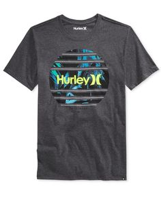 6445a82187 Hurley Men s Graphic-Print T-Shirt Camisetas Masculinas