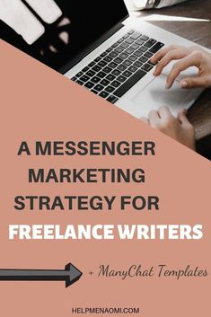 Freelance writing jobs - ManyChat Templates for Writers – Freelance writing jobs Make Money Writing, Writing Tips, Social Media Tips, Social Media Marketing, Facebook Marketing, Writers Help, Freelance Writing Jobs, Facebook Messenger, Starting Your Own Business