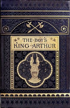 Front cover from The Boy's King Arthur, edited by Sidney Lanier, illustrated by Alfred Kappes, New York, 1880. (Source: archive.org.)