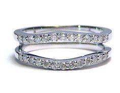 .50 ctw Diamond Ring Wrap Guard Enhancer Insert 14k white gold