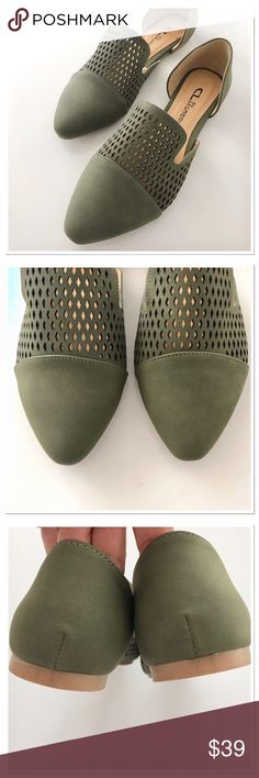 NWOB CL By Laundry Laser Cut Flats Never worn. Just for pictures. Super cute and stylish flats . Great with black skinnies or boyfriend jeans, pencil skirts you name it. Size 7 . True to size. CL by laundry Shoes Flats & Loafers
