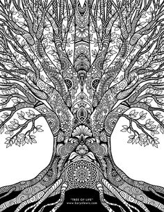 Creative Image of Doodle Art Coloring Pages . Doodle Art Coloring Pages Tree Of Life Doodle Art Free Adult Coloring Page Karyn Lewis Coloring Pages Nature, Coloring Pages For Grown Ups, Tree Coloring Page, Coloring Book Art, Printable Adult Coloring Pages, Doodle Coloring, Mandala Coloring Pages, Coloring Pages To Print, Free Coloring