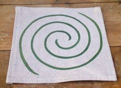 Walking Labyrinth, Double Spiral, Hand-painted 8ft x 8ft Canvas, Custom Color