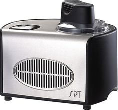 SPT - 1-1/2-Quart Ice Cream Maker - Stainless/Black