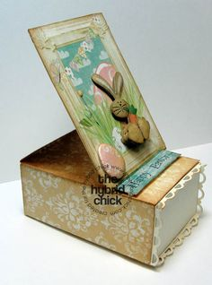 Easel box with tutorial-- this is cute as can bed!