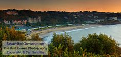 """Langland Bay by Dan Santillo. """"This was my first visit to this particular viewpoint overlooking Langland Bay. I was lucky to have such a beautiful sky."""""""