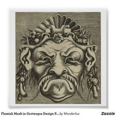 Unusual Flemish Mask in Grotesque Design Poster from the Great as a gift or an art gallery or wall hanging. Victoria And Albert Museum, Corner Designs, Custom Posters, Custom Framing, Art Gallery, Lion Sculpture, Statue, Wall Art, Wallpaper