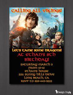 How to Train Your Dragon 2 Birthday Invitation
