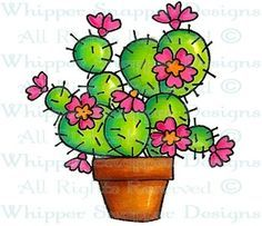 Whipper Snapper Designs is an expansive online store selling a large variety of unique rubber stamp designs. Cactus Drawing, Cactus Painting, Fabric Painting, Doodle Drawings, Doodle Art, Cute Drawings, Cactus Cartoon, Cactus Craft, Rock Flowers