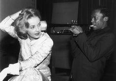 Jeanne Moreau and Miles Davis, 1958