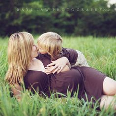 Mommy and me.  I want a picture like that with me and my boy!!
