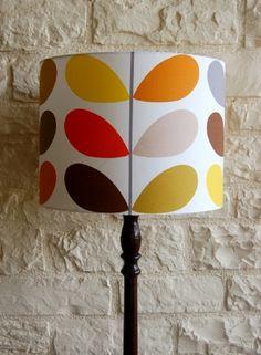 Orla Kiely lampshades, Orla Kiely lampshade handmade in Orla Kiely Multi Stem fabric,Orla Kiely lampshades, Multi Stem Retro Lampshade in Or...