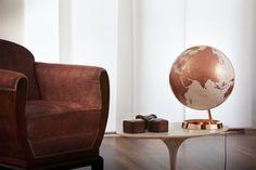 Design-Leuchtglobus Atmosphere Light & Colour Copper 30cm Globus modern Globe Erth   Globus24.de - Ihr Onlineshop für Globen aller Art