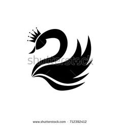Find Swan Silhouette Illustration stock images in HD and millions of other royalty-free stock photos, illustrations and vectors in the Shutterstock collection. Cloud Drawing, Wall Drawing, Art Drawings Sketches, Easy Drawings, Black Swan Tattoo, Queens Wallpaper, Paper Quilling Patterns, Fairy Tattoo Designs, Queen Tattoo