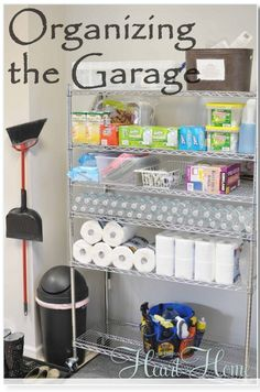 Even though the garage is man cave territory, I want at least one shelving unit for all my cleaning supplies, paper towels, storage etc. :D