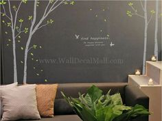 Find Happiness Tree With Birds Wall Decals – WallDecalMall.com