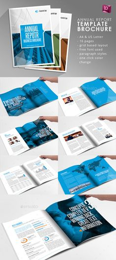 Check out new work on my @Behance portfolio  - free annual report templates