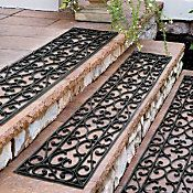 Amazing Extra Wide Rubber Scroll Stair Treads 48u0027